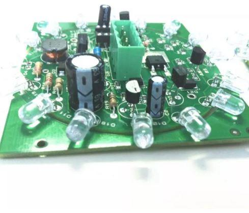 1 6mm LED PCB Board Assembly FR4 HASL Surface Finishing Green Mask SMT
